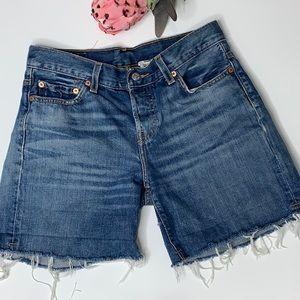 Levi's Vintage  501 Button Fly Cut Off Jean Shorts